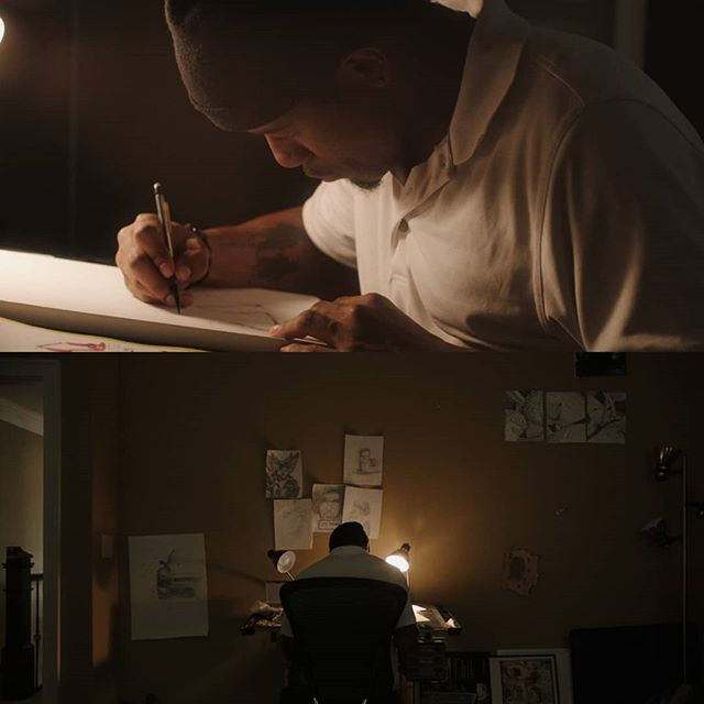 A couple frame grabs from a project for @oakeyagency . Did a really fast pass in resolve, but it's practically #sooc . So glad for the opportunity to work with such great people. . . . Director: @typeash  Producers: @stephenoakey , @ahalfpintprod , Alan Fowler Camera: @danmarrero (aka the best camera op in town, hands down) Talent: @mcclainsart Gaffer: @trevorpmay Audio: @audioloftskip DP: yours truly . . . . . . . . . #cinematographer #cinematography #dop #framez #arri #cooke #alexamini #cookes4 #litemat #drawing #art #creating #sooc #nfl