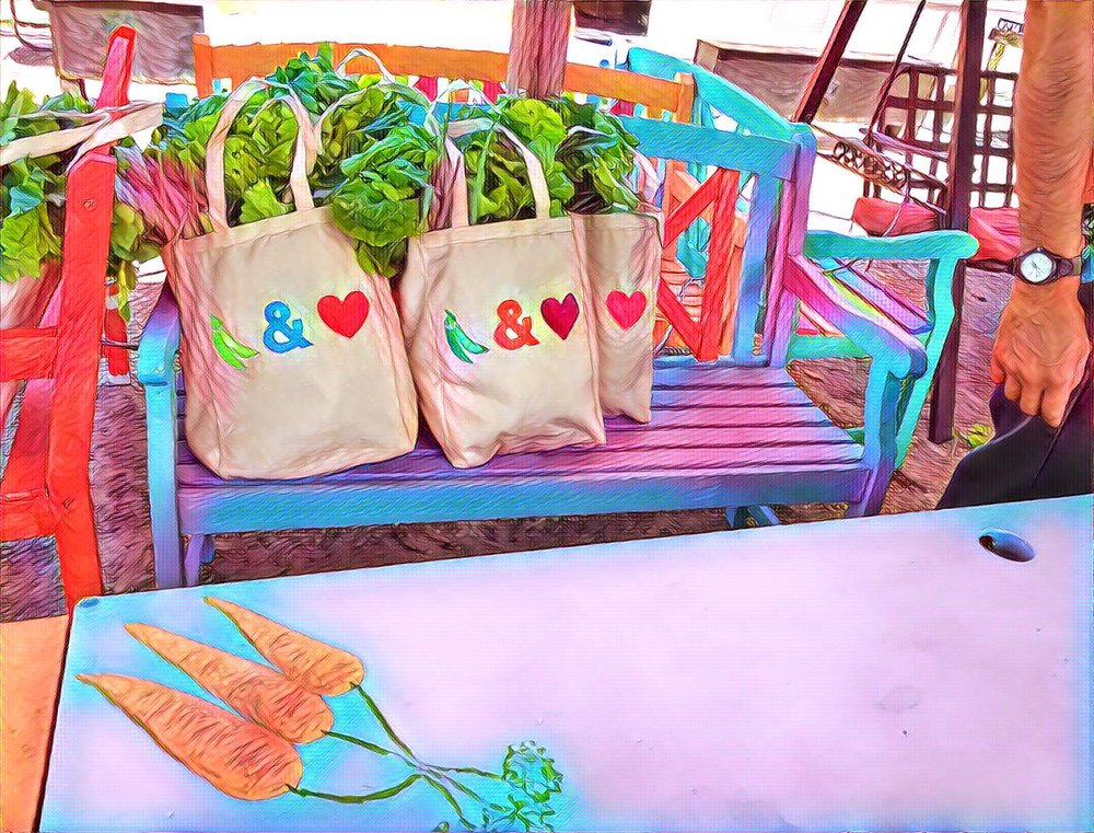 Peas & Love Bags ready for delivery