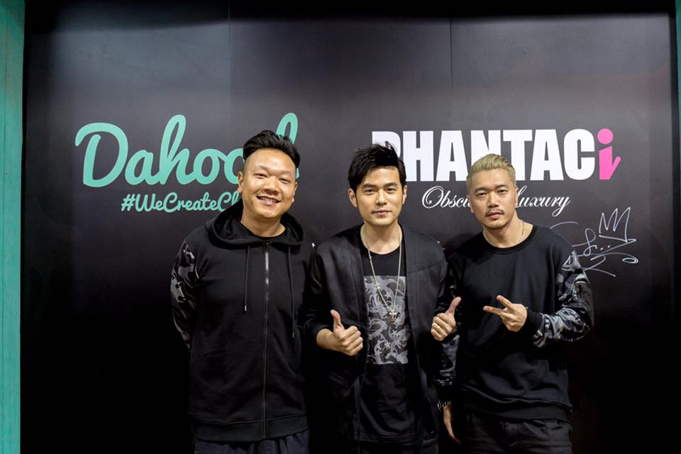Dahood x PHANTACi Launch Event  A great honour for us that Jay Chou squeezes his time out of the busy concert schedule to support Dahood x PHANTACi opening. We also have JW and Charles come here to witness the hottest collection of Dahood x PHANTACi right now.