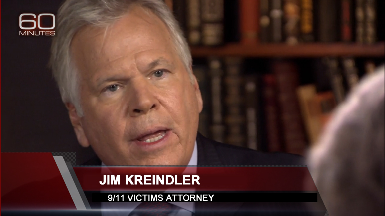 Attorney Jim Kreindler on 60 Minutes, April 2016