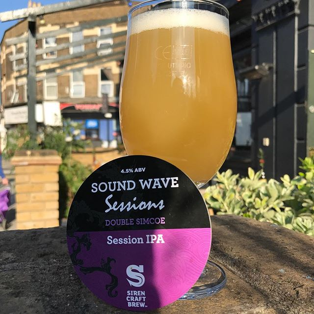 🌞🌞🌞🌞🌞Summer's back!!! 🌞🌞🌞🌞🌞 Just tapped this beaut! Our good friends at @sirencraftbrew have brewed a series of session strength versions of their flagship beer #Soundwave and his latest version with bagfuls of Simcoe hops is tasting phenomenal! Perfect, crushable beer garden beer! Come get some!  #beer #craftbeer #beerporn #cerveza #birra #biere #bier #pivo #piwo #öl #øl #beergeek #craftnotcrap #nocrapontap #beerphotography #beergarden #summer #sunshine #hazefordays #ipa #sesh #sessionipa #london #hackney #clapton
