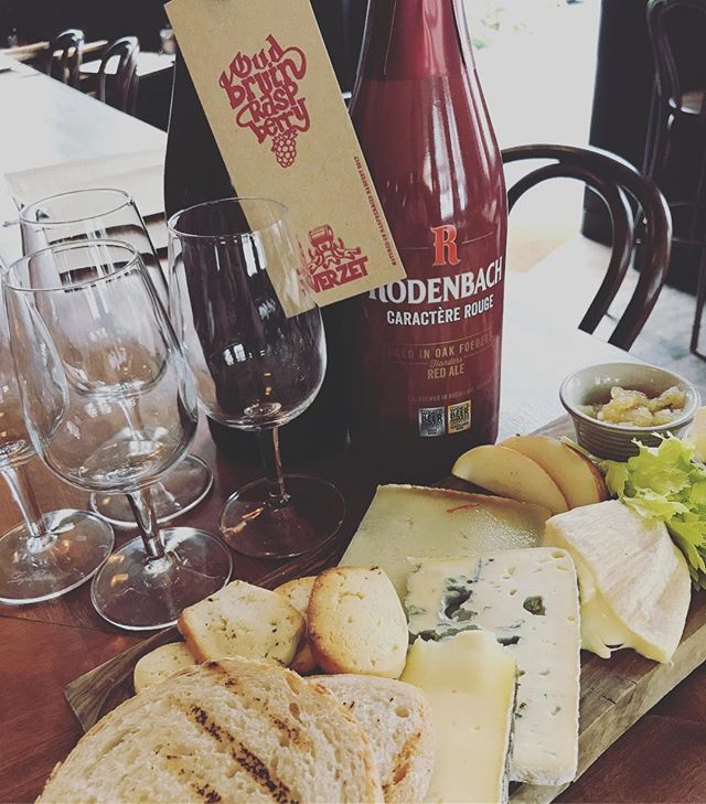 SHARING'S CARING!! We have brand new amazing cheese on our menu from the fantastic @provisionsldn  A perfect match for these fro-magical delights are the stunning @rodenbachbeer Caractere Rouge - a Flemish red with loads of fresh red berries - and the equally Devine @tverzet  Oud Bruin Raspberry - both Sour delights!  #cheese #fromage #cheeseboard #chutney #sourdough #beer #craftbeer #beerporn #cerveza #birra #biere #bier #pivo #piwo #öl #øl #beergeek #craftnotcrap #nocrapontap #beerphotography #london #hackney #clapton #sharingscaring #toshareornottoshare