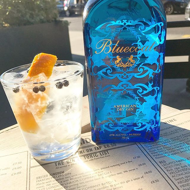 We've got a new gin to tickle your tastebuds! @bluecoatgin coming all the way from the US of A! 🇺🇸🍸 This Philadelphia gem is heavy on the citrus and pine, and makes a delightful G&T with a slither of orange peel! Perfect for a balmy evening in our garden!  #gin #craftgin #artisangin #usa #g&t #ginandtonic #summer #sunshine #beergarden #weeknightdrinking #afterworkdrinks #beergarden #london #hackney #clapton
