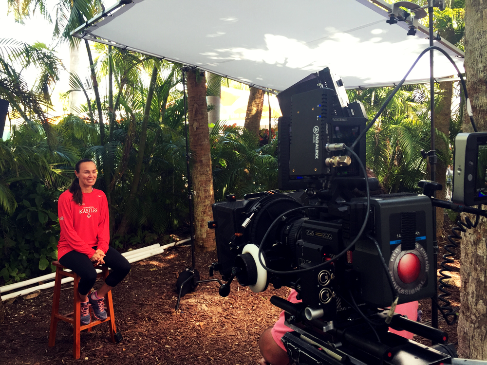 Martina Hingis brought great energy to a recent interview for World Team Tennis at the Miami Open