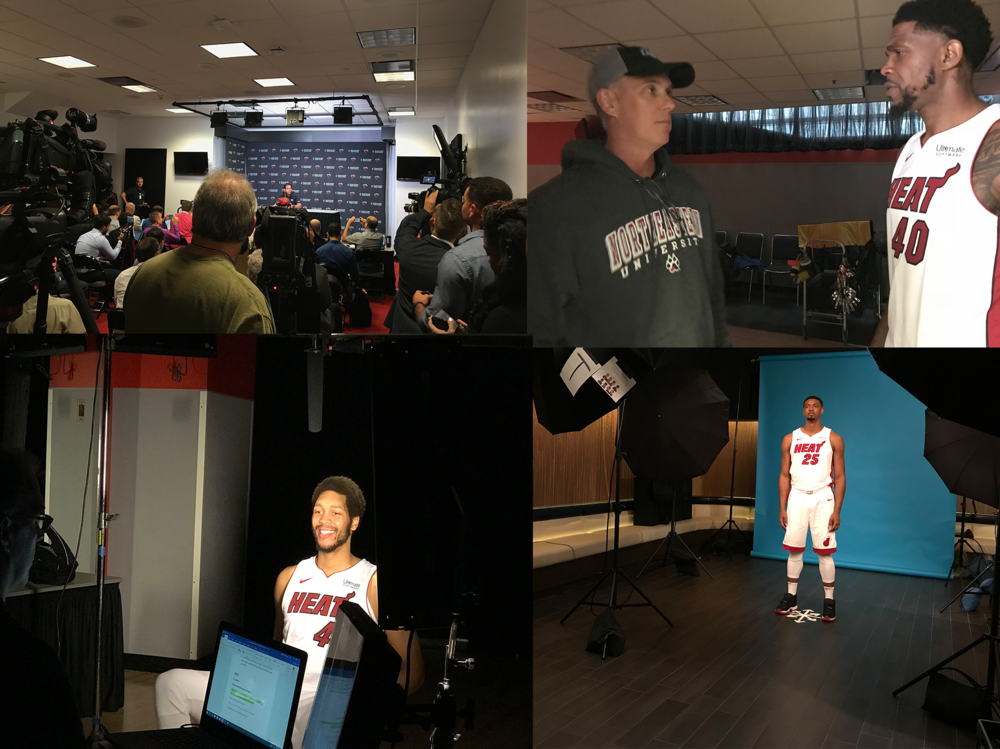 A peek behind the scenes with the Miami Heat players and coaches