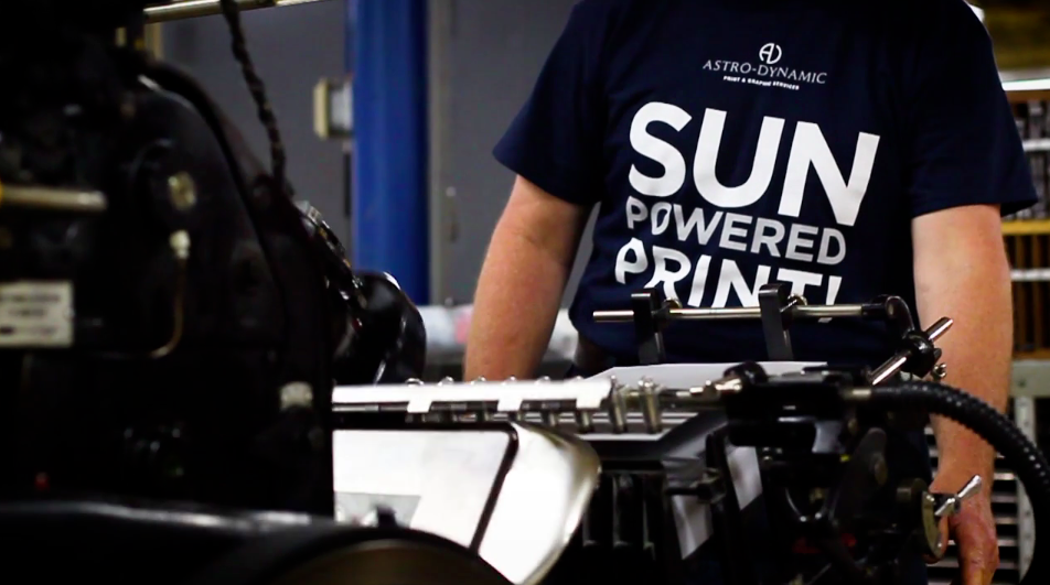 Printing presses run from solar power and a dedication to clean energy help this printer stand out
