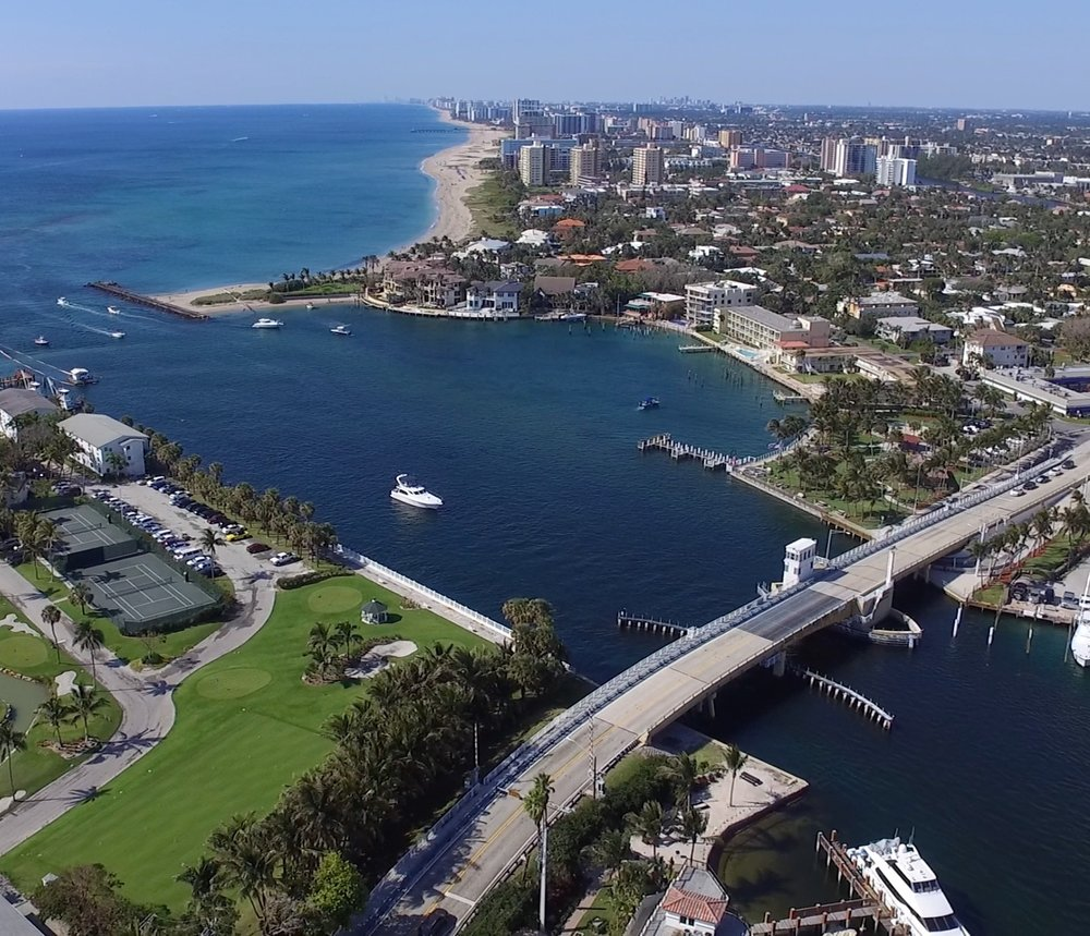 DJI Phantom scene over Boca Raton Inlet for recent docu-series
