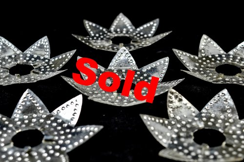 1930s punched tin heavy metal christmas light reflectors