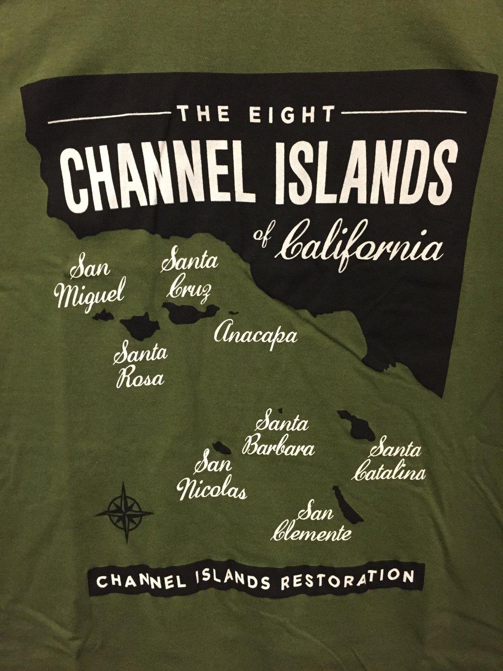 All 8 Channel Islands T Shirt Channel Islands Restoration