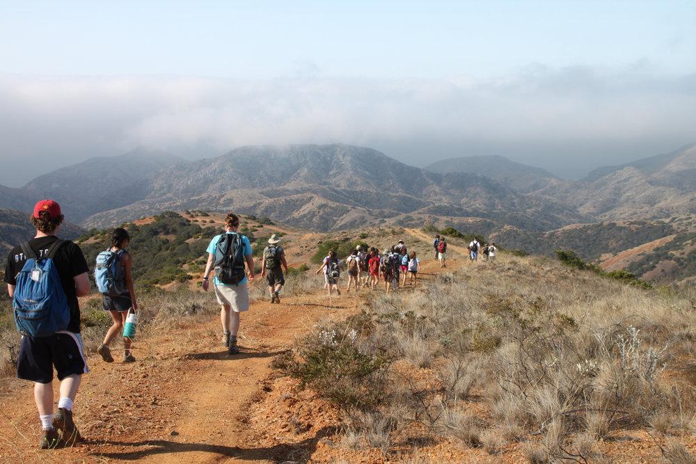 Diablo Mtn Trail, Santa Cruz Island