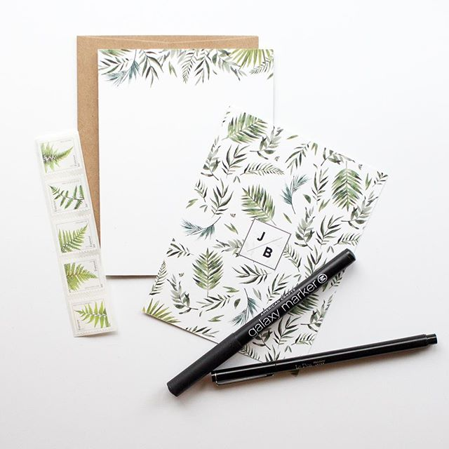 even the stamp goes perfectly with this simple stationary 🌿