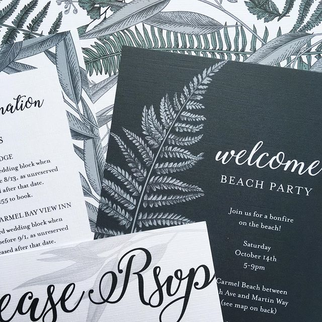 custom invites for a west coast wedding. mix and match is where it's at.