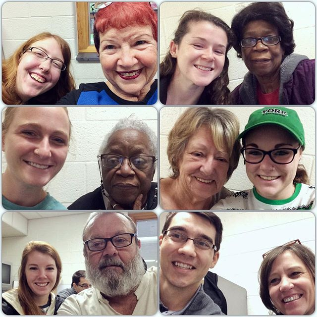 Intergenerational interviews with senior center members and York College students via @storycorps for #givingtuesday #unselfie