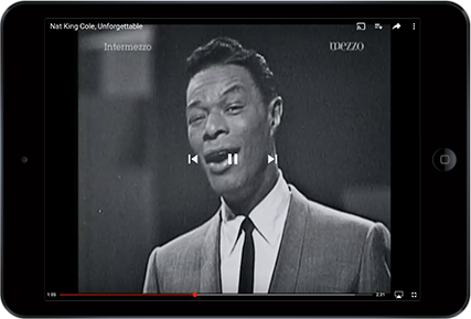 From Nat King Cole to Mozart, search YouTube for a loved one's favorite songs.