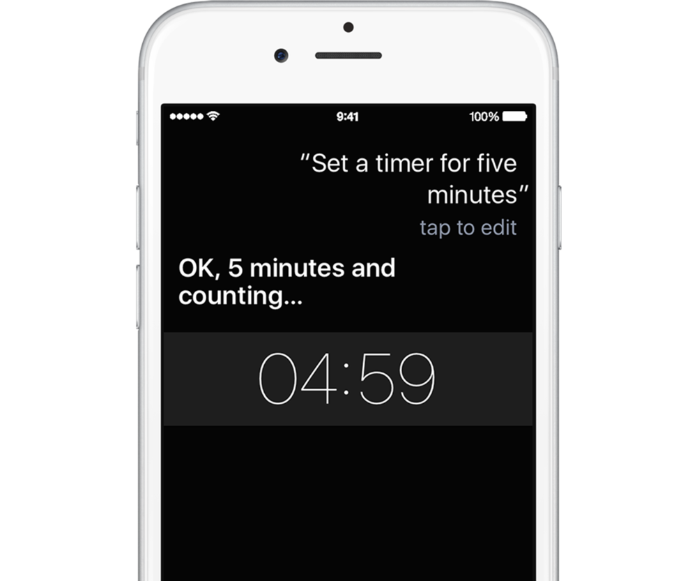 You can use Siri to set a timer on the iPhone.