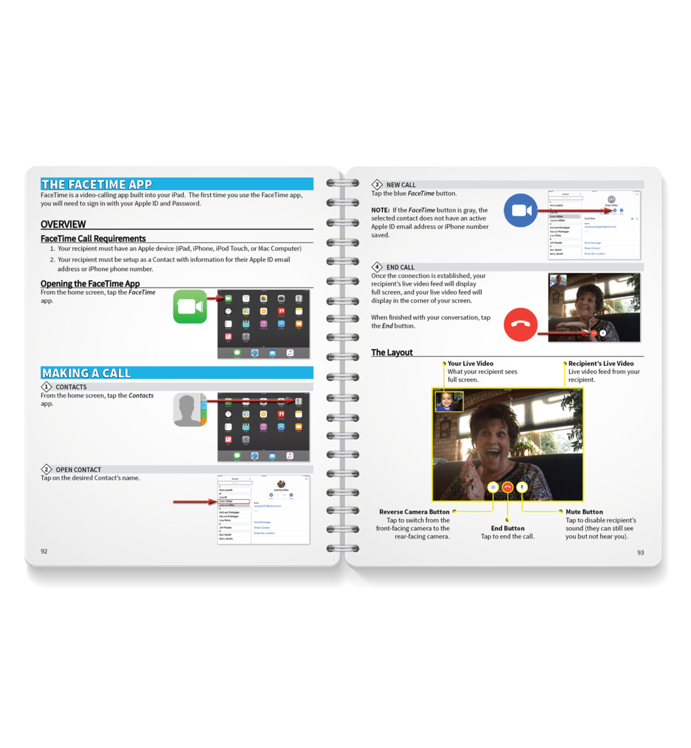 iPad Training Guide - Our tablet program is designed for the iPad. The Getting Started Training Guide includes step-by-step lessons on the most important aspects of using an iPad, including:-  The Basics-  Communicating with Others-  Taking and Saving Photos-  Searching for Information-  Customizing with Apps