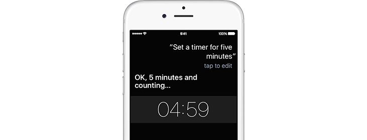 You can use Siri to set a timer.