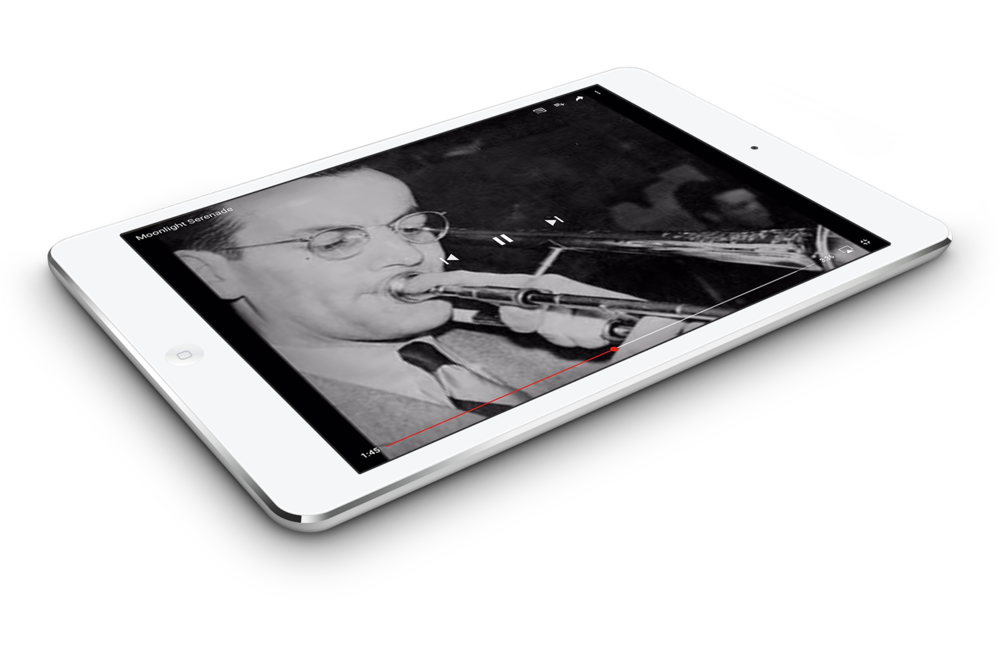 Tablets can be used to listen to music together.