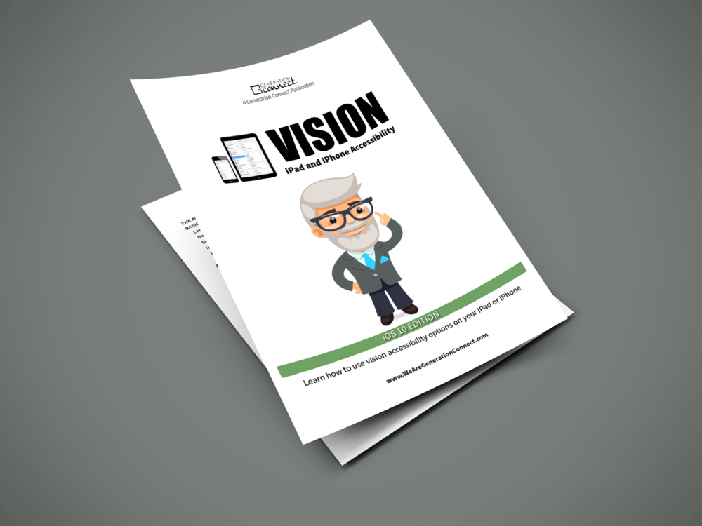 Vision Accessibility Guide for iPhone & iPad - Generation Connect published a free eBook with step-by-step instructions for using vision settings on iPhone and iPad. It's a great complement to the engagement lessons.