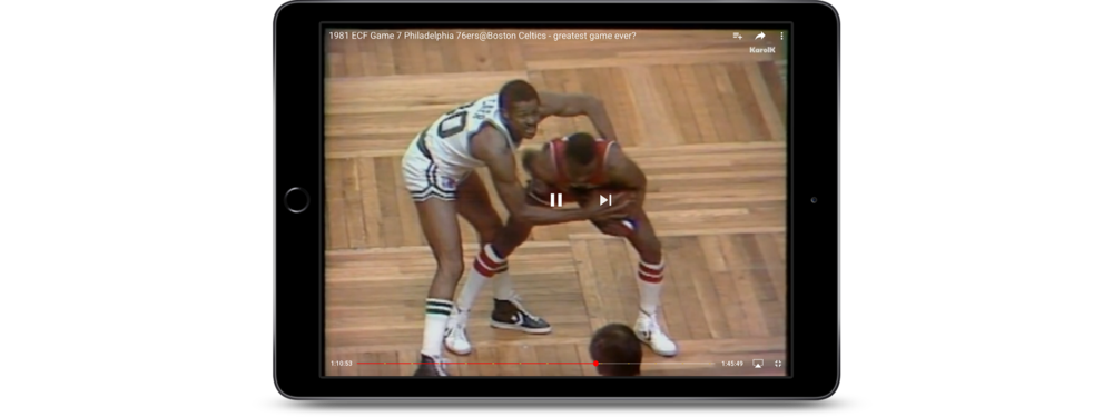 Reminiscing with Classic Sports Videos