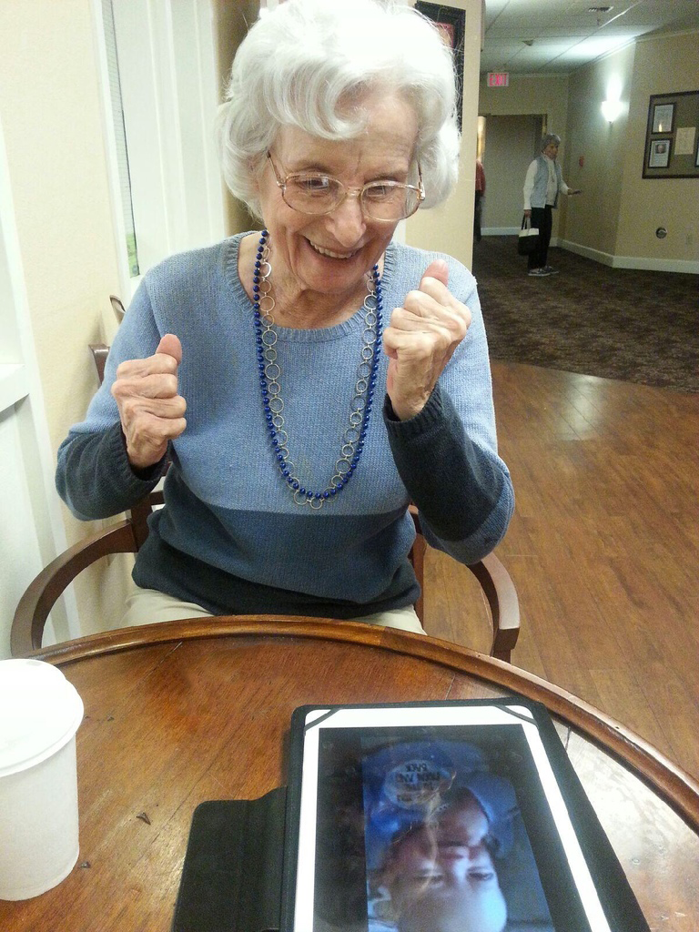 During the Phase 1 pilot, caregivers had success using tablets to help with mood management and relationship building.
