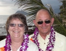 My mom and stepdad enjoying O'ahu on their retirement trip.
