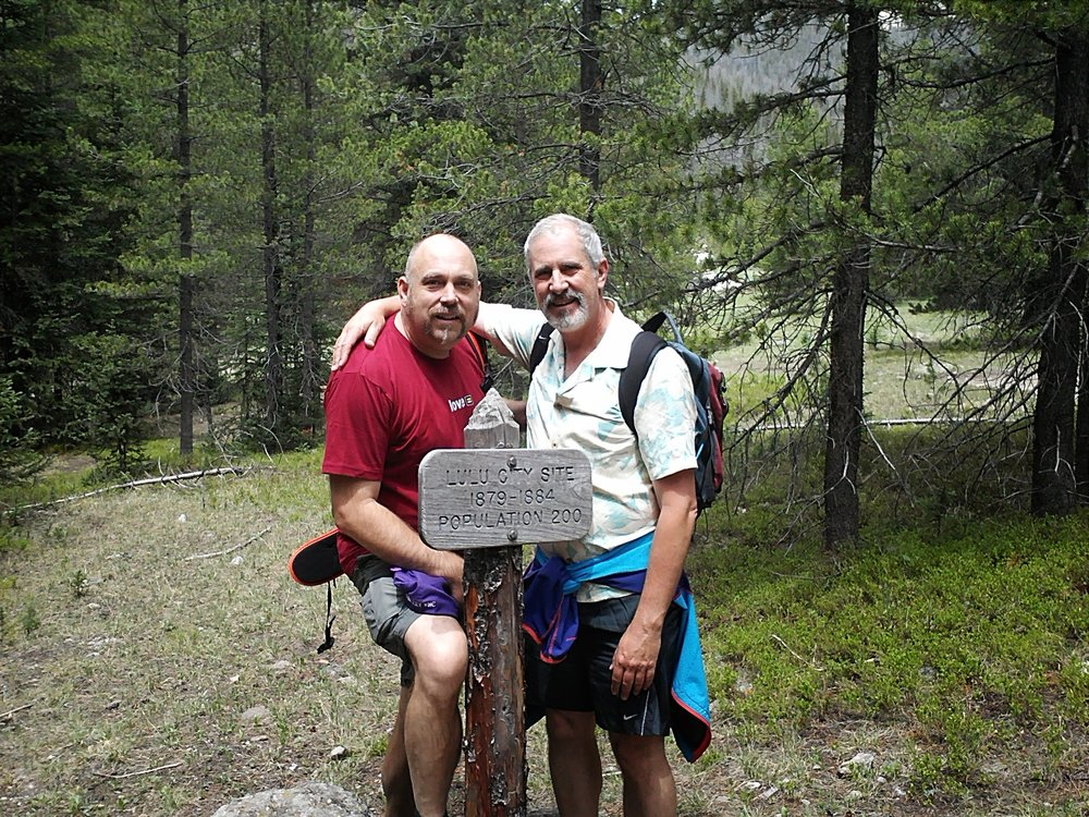 Hiking with Randy at Lulu City, CO in Rocky Mountain National Park.
