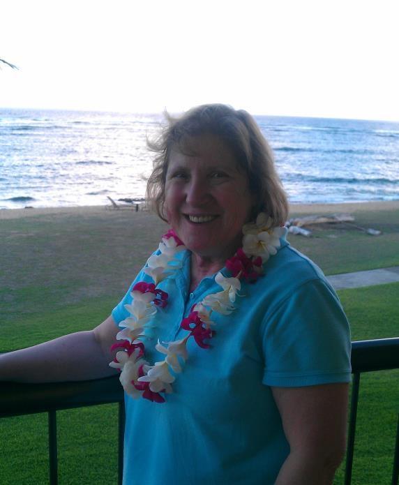 Randy's sister, Leesa, enjoying her balcony on Kauai