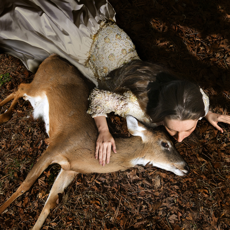 Ashly with Deer