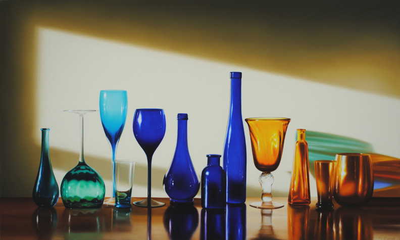 Amber and Blue (Glass Still Life)