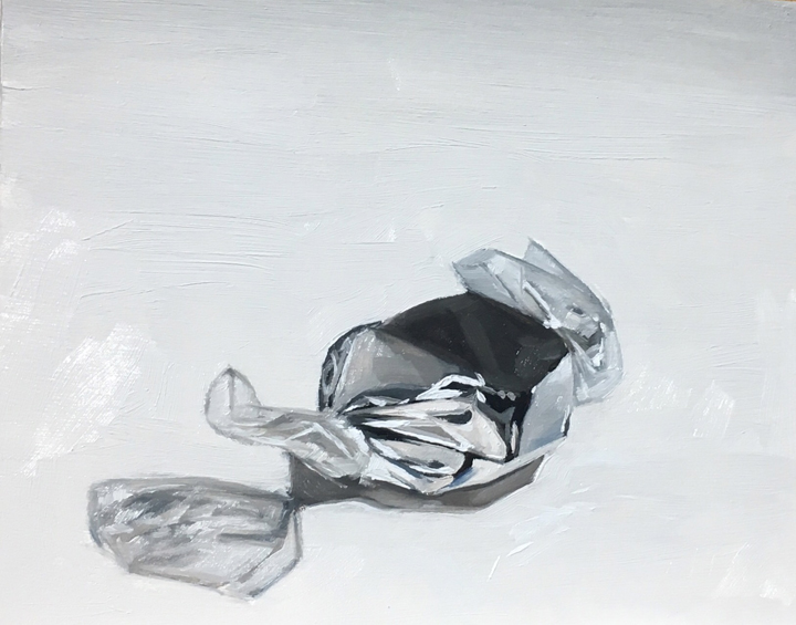 Untitled (silver foil candy)