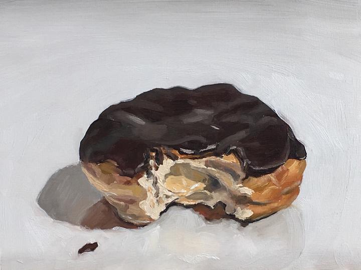 Untitled (Boston cream donut)