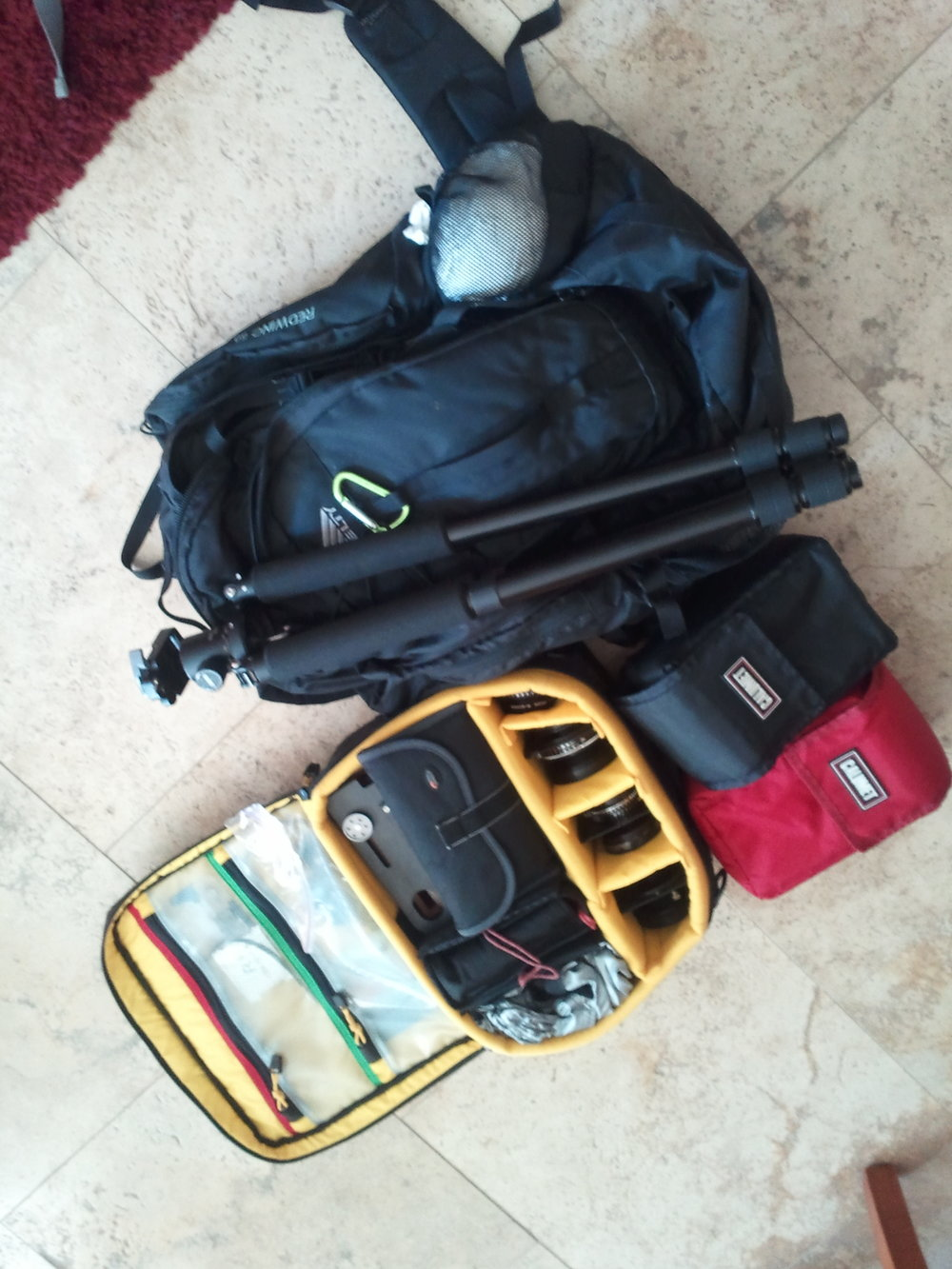 The Kelty Redwing 5100 and it's load ready for a trip!