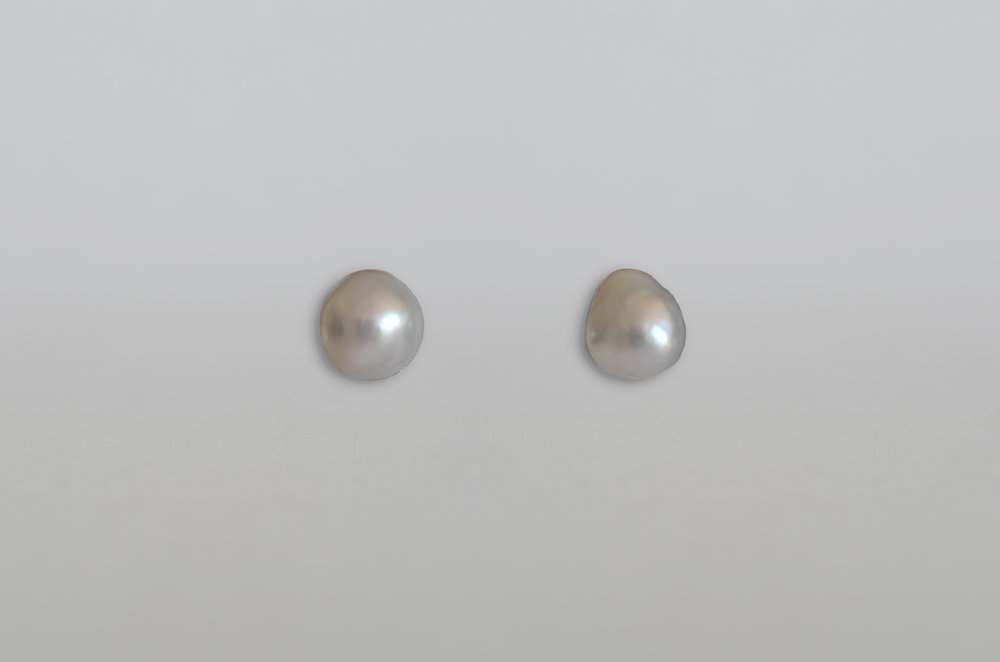 South Sea Baroque Pearl Earrings set in 18kt Gold