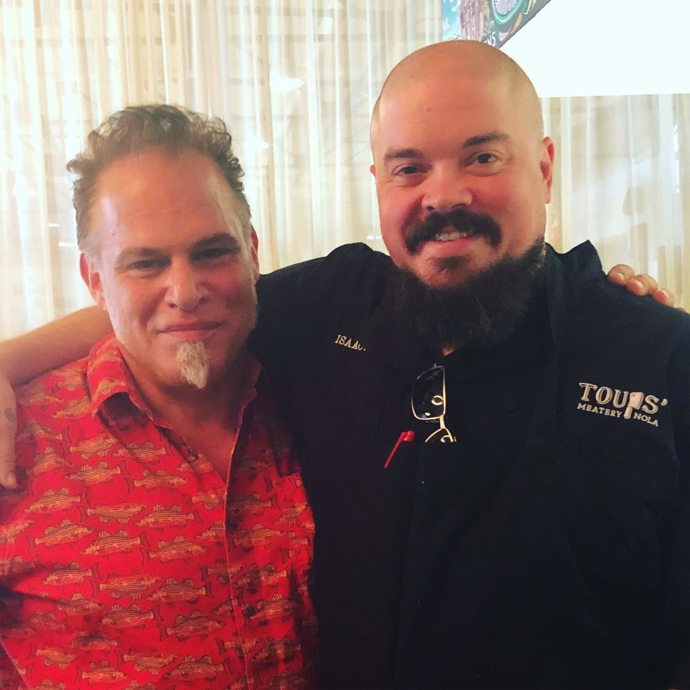"""Getting squeezed by Top Chef finalist Isaac Toups at his place in New Orleans."" – Ric Orlando"