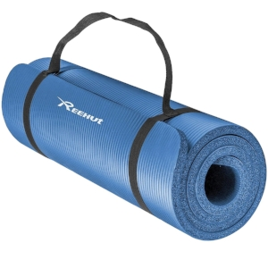 Yoga mat (1/2-inch thick with carrying strap)