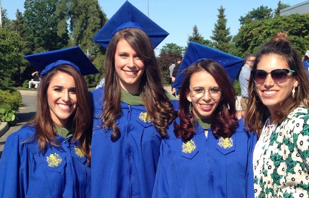 Graduation Day (L-R): Christina, Elena, Lesly, Lizzie