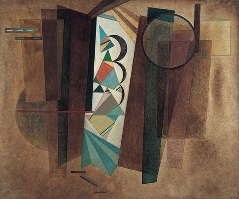 Development in Brown (1933) by Wassily Kandinsky