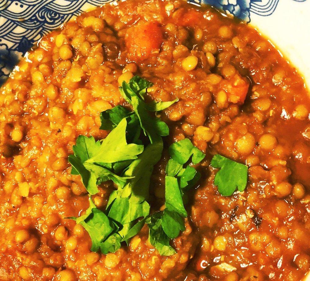 Lentil soup Photo credit: Alyssa DelSoldato