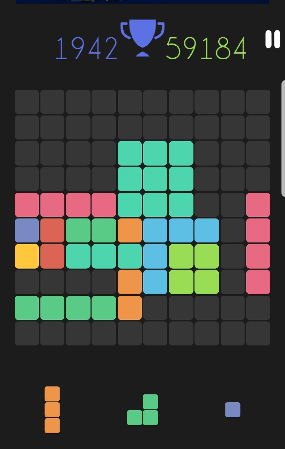 My current game of 1010, in progress