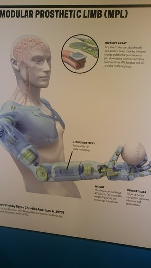 Visual Prototype of a modular prosthetic limb design  on Display at MODA