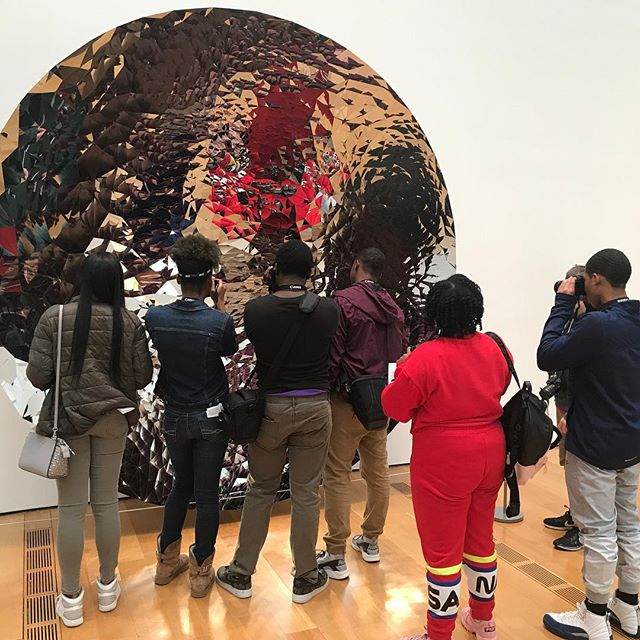 One of our fellows' favorites from Friday's visit to the High: Anish Kapoor's Untitled stainless steel sculpture featuring fractals. Both visually and acoustically engrossing to our crew!