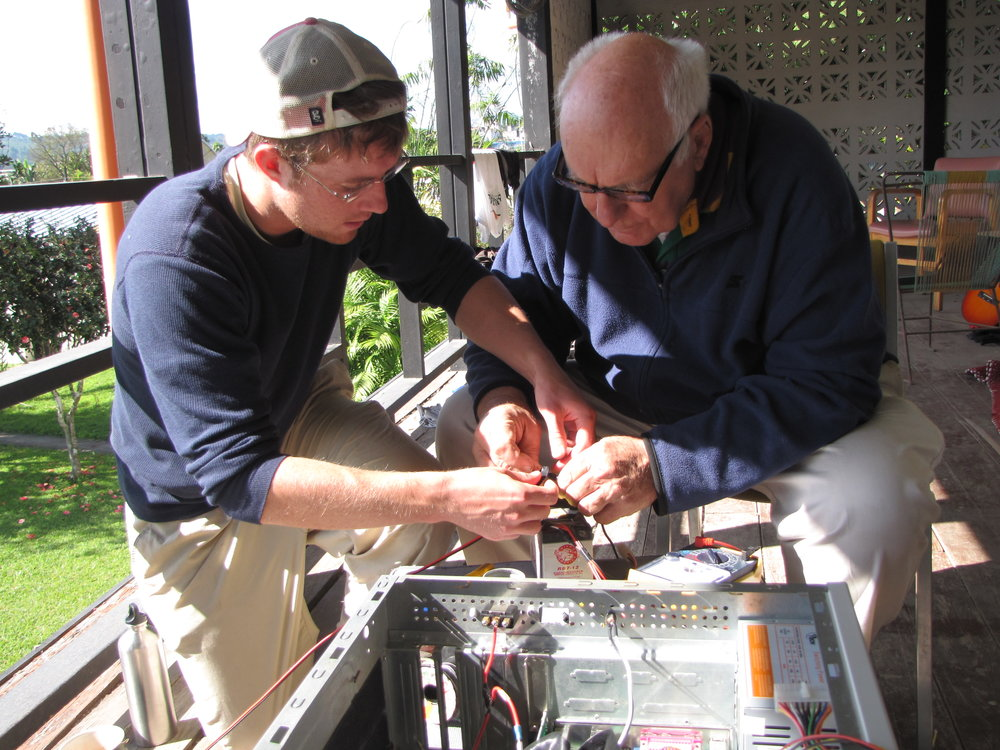 BVC Coban 2010 Gabe Sperl wiring with Fr. Bernie.jpg