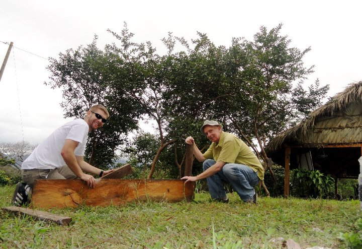 BVC Esquipulas 2010 Adam Gentner framing garden with monk.jpg