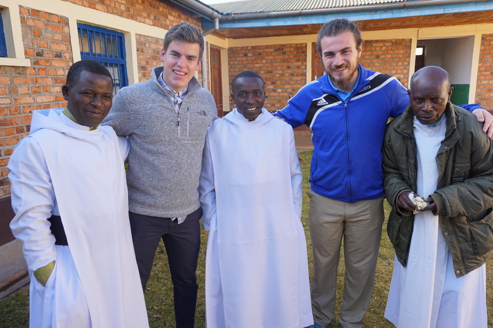 Imiliwaha - Adam and Phil with monks.JPG