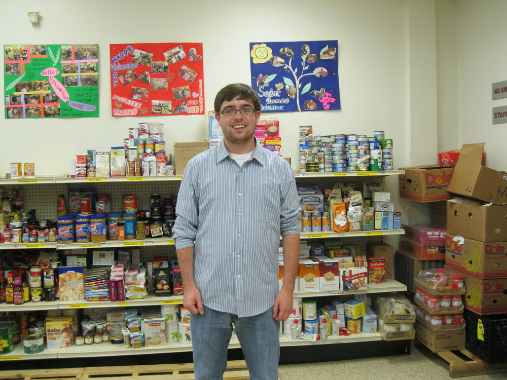 BVC Chicago 2012 Ted Kain with food pantry.jpg