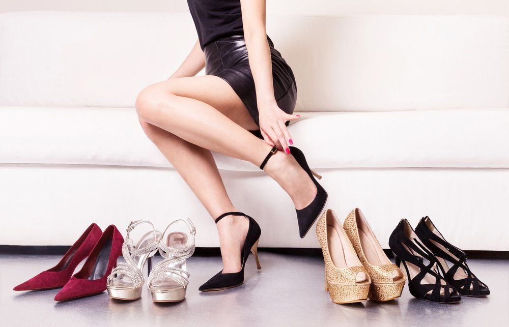 6 - The end of the day is the best time of day to try on shoes because the feet are likely to be swollen.