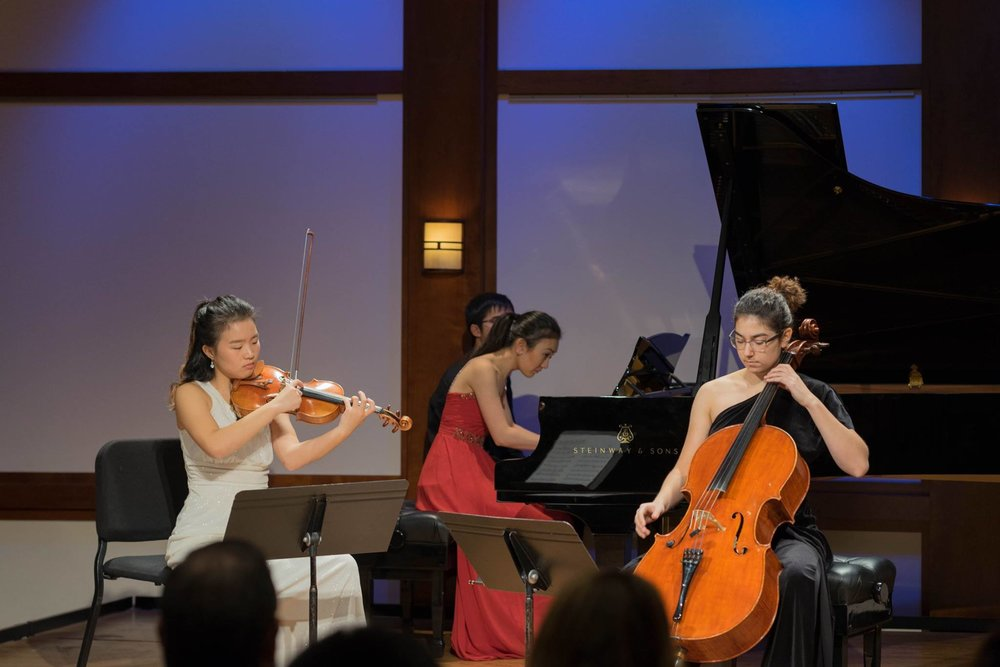 2018 ICMF participants performing at the Rose Studio of the Chamber Music Society of Lincoln Center.