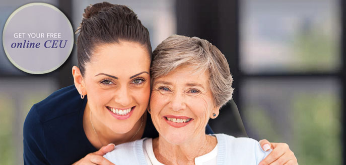 Online CEU Course - Compliments of Evolve Senior Living.  Click on button below for your Free Online CEU course on a wide range of elder care topics that are approved for nurses, social workers and administrators.