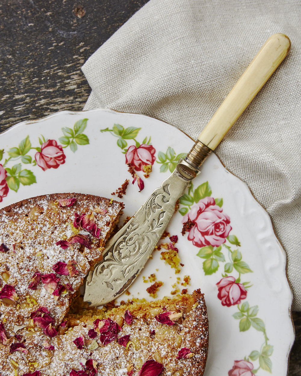 Pistachio and pine nut cake by Lorna for Enrich and Endure. Photo: TACA